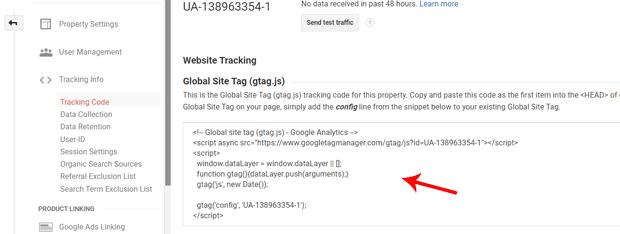 آموزش قرار دادن کد گوگل آنالیتیکس در قالب فلتسام